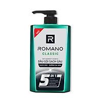 Combo Dầu gội sạch gàu cho nam Romano Classic 650gr & xịt khử mùi toàn thân Classic 150ml