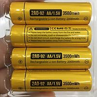 Bộ 4 viên pin tiểu sạc AA (3A) Lithium 1.5V cao cấp 3500mWh