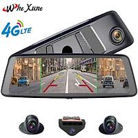 Camera hành trình cao cấp Whexune K950 tích hợp 4 camera, Android Wifi GPS - Hàng chính hãng