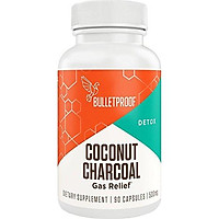 Bulletproof Activated Coconut Charcoal, Supports Better Digestion, Removes Toxins, Organic Natural Way to Relieve Stomach Ache, Heartburn, and Gas Relief (90 Capsules)
