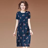 Đầm Dáng Xuông,Váy Trung Niên, Thiết Kế Họa Tiết Sang Trọng.