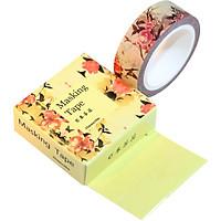 Băng Keo Giấy Trang Trí Masking Tape - Hoa Vàng