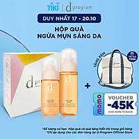 Bộ Sản Phẩm Cho Da Mụn Nhạy Cảm d program Acne Care (Nước Cân Bằng 125ml + Sữa Dưỡng 100ml)