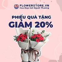 Toàn quốc [E-voucher] Ưu đãi 20% tối đa 100K Flowerstore giao ngay trong ngày