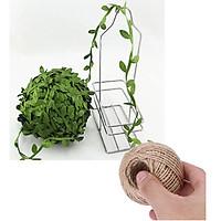 Combo 5 mét dây lá giả và 30 mét dây gai làm đồ thủ công handmade trang trí thiệp, mũ cói, bó hoa, gói hộp quà tặng..