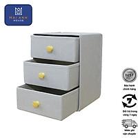 Tủ đựng đồ đa năng mini 3 ngăn - DS4697 - vải Oxford 600D cao cấp phong cách Hàn Quốc, gấp gọn thông minh