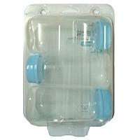 Bộ 3 bình trữ sữa Spetra cổ hẹp dùng cho máy Dew, medela