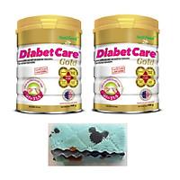 2 hộp Nutifood DiabetCare Gold 900 Gr - Sữa cho người bị bệnh tiểu đường, đái tháo đường. Tặng chiếc khăn lau đa năng mềm mịn.