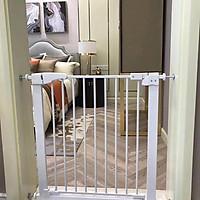 Combo Thanh chặn cầu thang và cửa- Không cần khoan đục- (Rộng 72-85cm, cao 76cm) và thanh nối 10cm giúp Bé an toàn