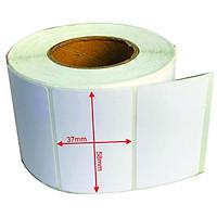 4 cuộn giấy decal nhiệt dùng để in tem nhãn, in mã vạch TOPCASH khổ tem 57mm x 38mm dùng cho cân in mã vạch TOPCASH, cân CAS, cân Mettler Toledo dùng trong trung tâm phân phối, siêu thị hoặc dùng để dán ly trà sữa, hộp bánh - Hàng chính hãng