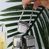 304 Stainless Steel Ice Cube Reusable Chilling Frozen Rock Stone Ice Cube