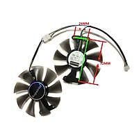 2 Cái/bộ 90Mm T129215SU Hoặc PLD09210S12HH GPU Cooler Quạt Đồ Họa, Cho P106-100 GIGABYTE 6G GTX1660 GTX1650 Siêu Thay Thế