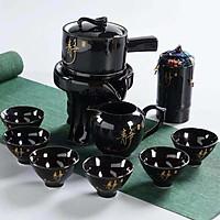 Bộ ấm chén pha trà cối xay 10 món Kim Sa