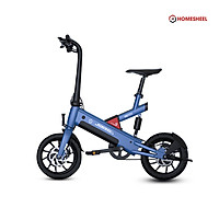 Xe điện gấp gọn trợ lực thông minh Homesheel T6_10Ah phiên bản mới nhất ( Màu xanh dương)
