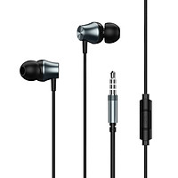 Remax RW-105 In-Ear HD Sound Wired Metal Earphone Bass Headphone with Microphone for Phone Call Music Earbuds with 3.5mm