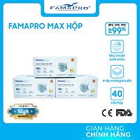 [[ Xuất Khẩu Mỹ ]] - COMBO 3 HỘP - Khẩu Trang Y Tế Cao Cấp FAMAPRO - 4 Lớp Kháng Khuẩn / 99% Lọc Khuẩn, Bụi, Virus Tốt Nhất / Người Lớn - [ CB3 - MAX - HỘP ]