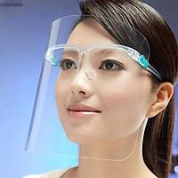 Tấm kính che mặt bảo vệ chống bắn nước bọt chống dịch chống bụi chống nắng có thể dùng đi xe máy