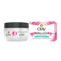 Kem dưỡng da cho da nhạy cảm Olay Double Action Night Cream &Primer Sensitive