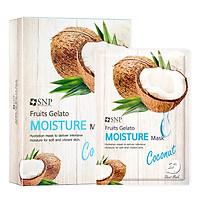 Combo 10 Mặt Nạ Dưỡng Ẩm Tinh Chất Dừa SNP Fruits Gelato Moisture Mask