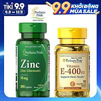 Combo Thực Phẩm Chức Năng bổ sung kẽm Zinc và vitamin E