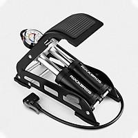 Bơm đạp chân đa năng 2 xi lanh ROCKBROS dùng cho ô tô, xe máy, xe đạp dế dàng sử dụng