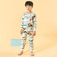 Bộ đồ dài tay mặc nhà cotton giấy cho bé trai U1010 - Unifriend Hàn Quốc, Cotton Organic
