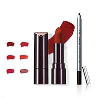 Bộ đôi VDIVOV Son lì Lip Cut Rouge Velvet RD308 ROSE CUT 3.8g và Eye On Gel Pencil Liner BB801 ( Pearl) 0.5g