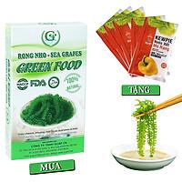 Rong nho biển GREEN FOOD - Sea grapes - Giàu vitamin, khoáng chất và các axit amin  (Hộp 100g)