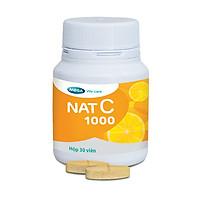 Thực phẩm chức năng bảo vệ sức khỏe MEGA WECARE Nat C - Viên uống Vitamin C - Khỏe đề kháng