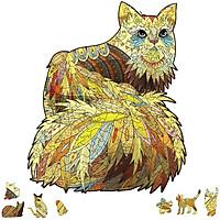 Bộ xếp hình gỗ đồ chơi  ghép hình con vật, bộ xếp hình trí tuệ, quà tặng bạn bè - Hình chú Mèo