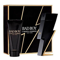 Bộ Nước Hoa Nam Set Carolina Herrera Bad Boy 100ml + Shower Gel 100ml