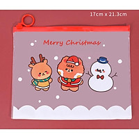 Túi đựng đồ dùng học tập chống nước siêu dễ thương - Túi đa năng đựng mỹ phẩm cỡ lớn chủ đề Noel siêu ciu xinh xỉu