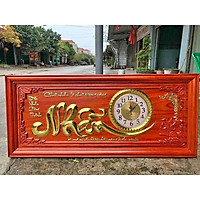 tranh đồng hồ chữ nhẫn gỗ hương hàng đẹp