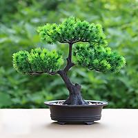 Chậu Cây Bonsai Dáng Cây Thông Trang Trí Nhà Cửa Sang Trọng - Hoa Giả, Cây Giả