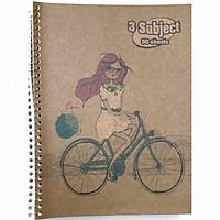 2 cuốn sổ lò xo A4 - 180 trang - Bìa cứng (Giao mẫu ngẫu nhiên)