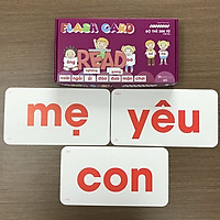 Bộ Thẻ Học Flash Card 200 Từ Đơn Glenn Doman Chuẩn Chương Trình Giáo Dục Sớm - Dạy trẻ học nói _ Dạy bé đọc chữ _ Dạy trẻ đọc sớm
