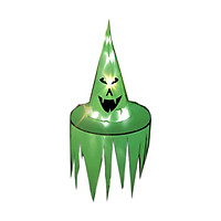 Halloween Hat Hanging Lighted Witch Hat Serrateed Smiling Face Led Hat Halloween Decorations Glowing Witch Hat Lights
