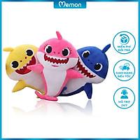Gấu bông Cá Mập Baby Shark cao cấp - Hàng chính hãng Memon - Đồ chơi thú nhồi bông Cá Mập Baby Shark, Bông Gòn PP 3D tinh khiết, đàn hồi đa chiều, bền đẹp, an toàn cho người sử dụng