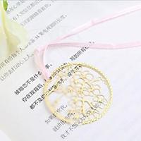 Bookmark kim loại đánh dấu trang sách hình hoa đào