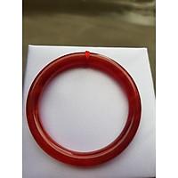 Vòng Tay Phong thủy đá cẩm thạch đỏ đẹpSize Vòng 47mm x cọng 7mm Hợp Nữ mệnh Hỏa Thổ Cân nặng 30kgđến 47kg đeo ạ