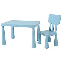 Bộ bàn ghế Nhựa Cao Cấp cho Bé - Màu Xanh Biển