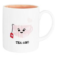 Ly sứ cao cấp Dong Hwa họa tiết Tea Amo MC001 - hồng (300ml)
