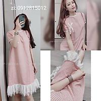 Váy bầu đầm bầu chất Lụa Hàn mềm mạithiết kế sang chảnh mặc đi làm đi chơi đều đcFree size 43~68kg