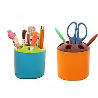 Combo 02 cốc nhựa đa năng cắm bút,kéo, đựng bàn chải đánh răng, phụ kiện nhiều màu
