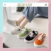 Giày sục vải nữ LILY thêu hình vịt đáng yêu đi học đi chơi