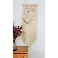 Rèm trang trí thủ công đẹp treo tường phòng khách làm quà tặng từ Macrame 36L x 16W