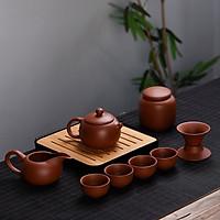 Bộ ấm trà du lịch tử sa Tây Thi 9 món