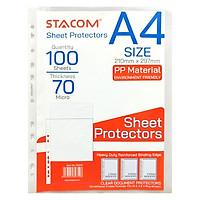 Bìa lá A4 11 lỗ dày 0.07mm Stacom - D3070