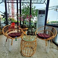 Bộ bàn ghế sân vườn sắt giả mây - NAVICOM
