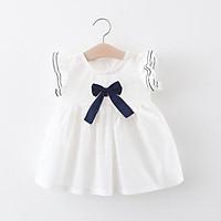 Váy nơ trắng bé gái